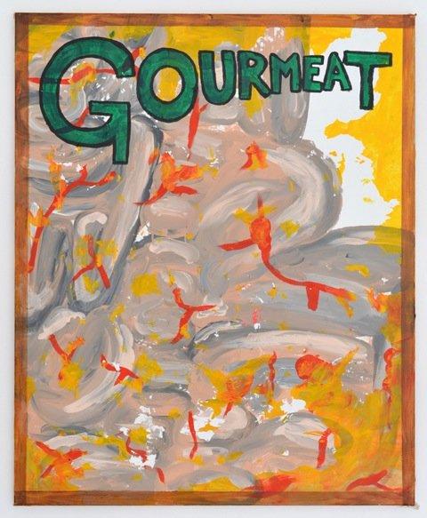 Zven Balslev: Gourmeat, 2014. Akryl på lærred, 100x80 cm. På GOURMEAT, Marie Kirkegaard Gallery til d. 8/11. Foto: Marie Kirkegaard Gallery