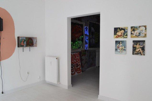 Udstillingsview fra GOURMEAT, Marie Kirkegaard Gallery til d. 8/11. Foto: Marie Kirkegaard Gallery