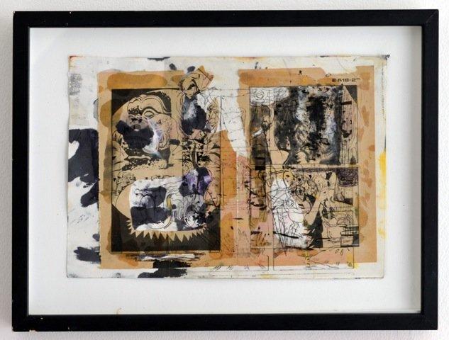 Andy Bolus: E-518, 2014. Collage, 29x39 cm. På GOURMEAT, Marie Kirkegaard Gallery til d. 8/11. Foto: Marie Kirkegaard Gallery
