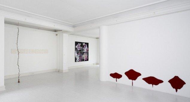Billede af udstillingen Chambre Ornementale. Galerie Mikael Andersen, 2014- Foto: Jan Søndergaard.
