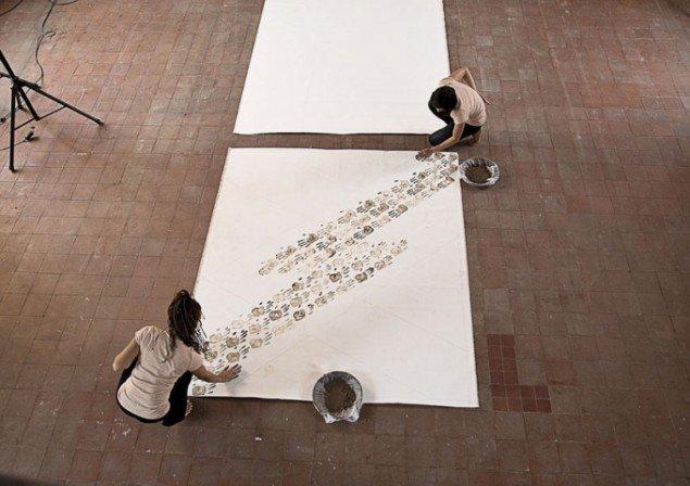 Performancen med videokunstner Jeannette Ehlers. Foto: Frida Gregersen.