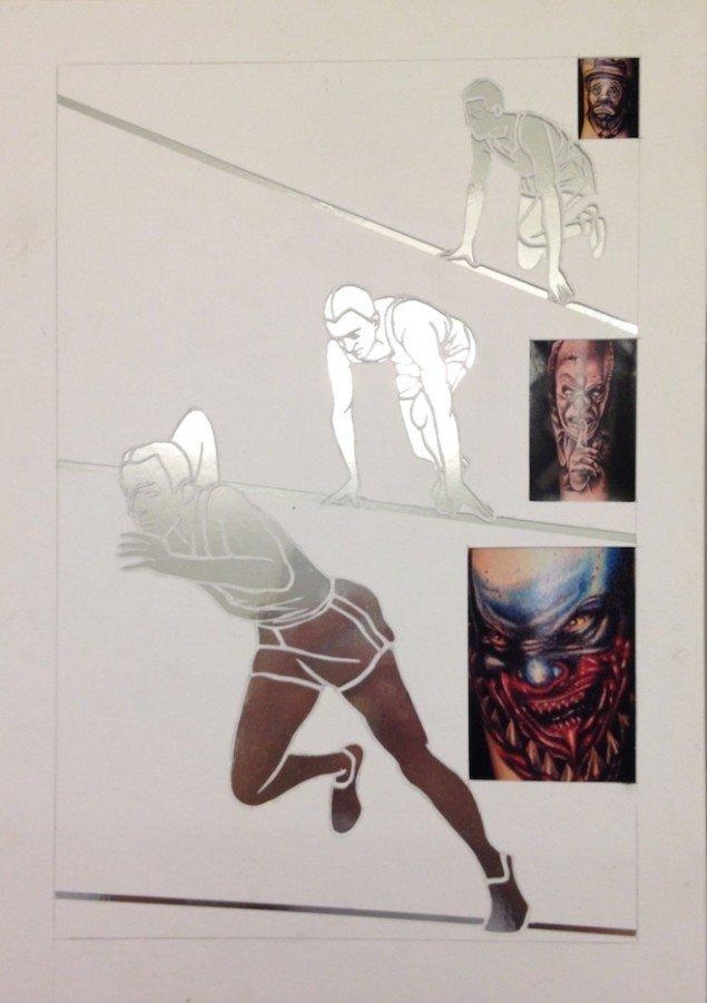 Heine Kjærgaard Klausen: Collage, 2014. Foto: Erling Lykke Jeppesen