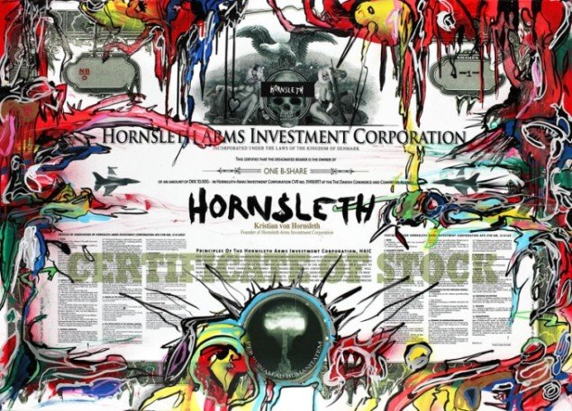 Kristian von Hornsleth: HAIC (Hornsleth Arms Investment Corporation) 70 x 100 cm (2008). Billede: Copyright Hornsleth.