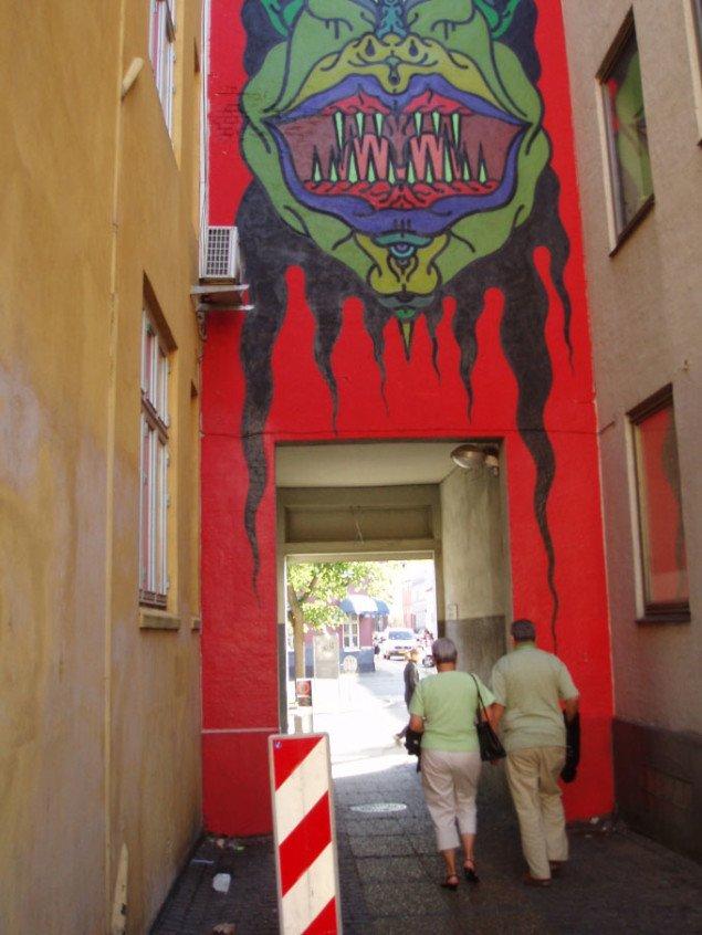 I Posthussmøgen kan også opleves Faust og Mis.Tic, der er en del af Icons for Now streetart-projekt, foto: Sidsel Hartlev
