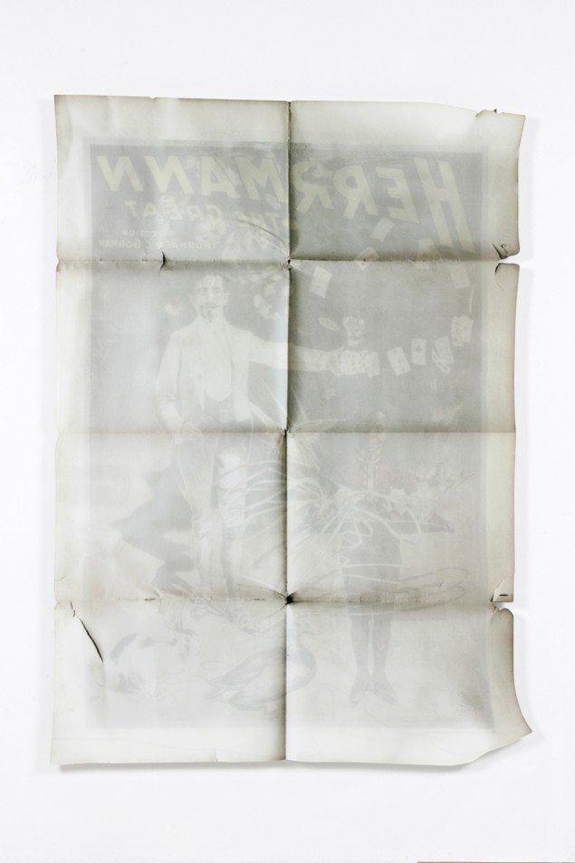 Lars Morell: Ink on Paper #05, 2013. Tilskåret Diasec, 165x120x2,5 cm.Unik, Edition 1/1. På Epiloger, KANT. Foto: Lars Morell