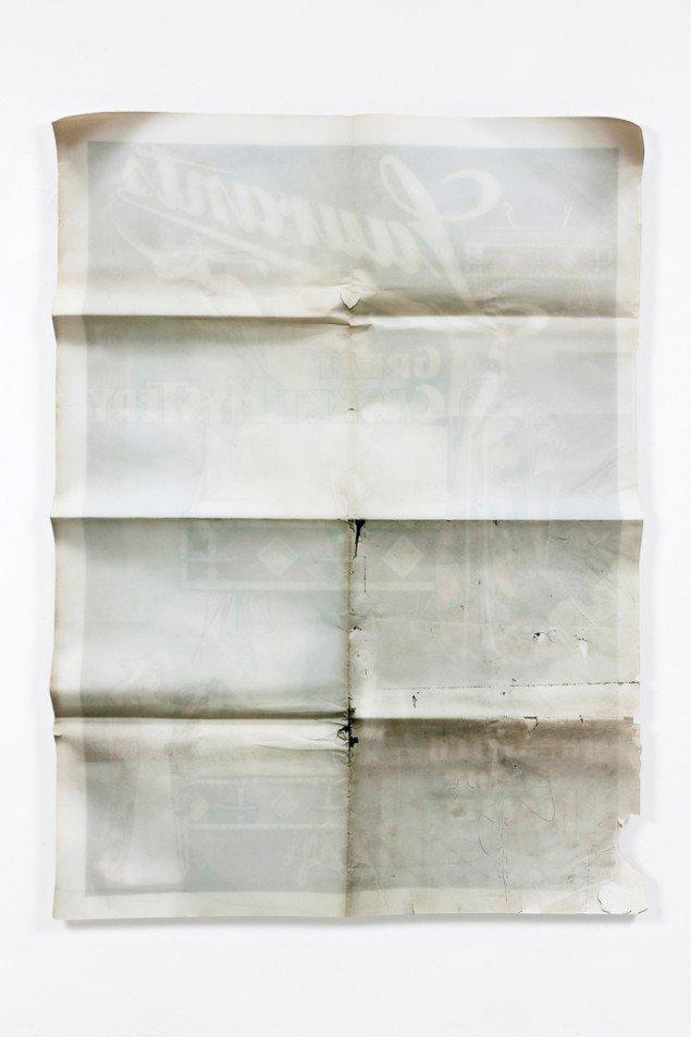 Lars Morell: Ink on Paper #12, 2013. Tilskåret Diasec, 165x120x2,5 cm.Unik, Edition 1/1. På Epiloger, KANT. Foto: Lars Morell