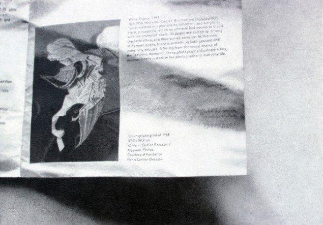 Rune Elgaard: Katalog #1 (Cartier-Bresson) (69), 2014. Blyant på papir, 29,7x42 cm. På Epiloger, KANT. Foto: Lars Morell