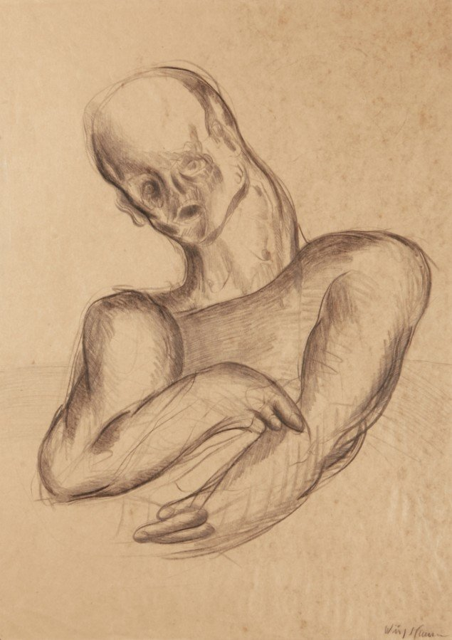 Svend wiig Hansen: Uden titel, blyant på papir. Foto Jakob Myrdskov