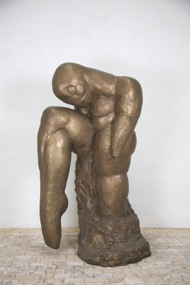 Svend wiig Hansen: Mennesket det ensomme dyr, efter 1990, bronze,
