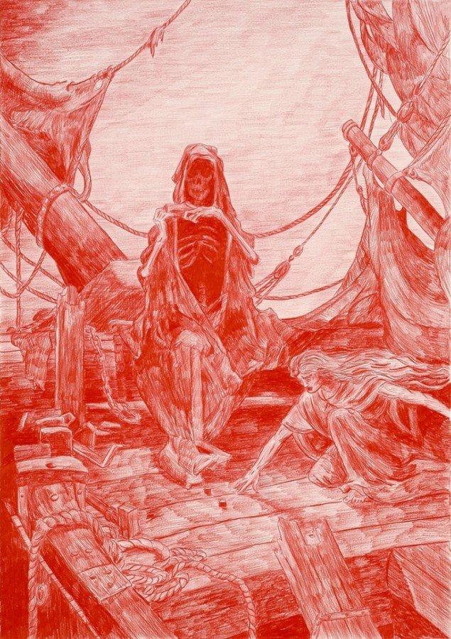 Morten Schelde: The Rime of the Ancient Mariner efter Gustav Doré, 2005. Courtesy: Galleri Susanne Ottesen