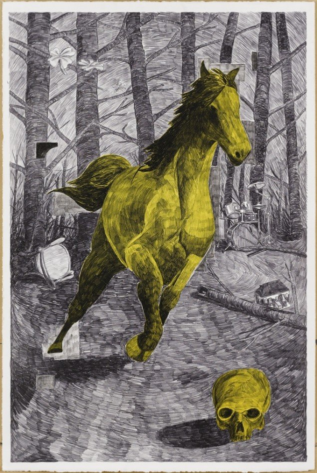 Morten Schelde: Crazy Horses Teenage Wasteland, 2007. Courtesy: Galleri Susanne Ottesen