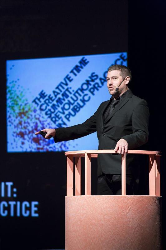 Nato Thompson fra Creative Times. Foto: Amy Helene Johansson.