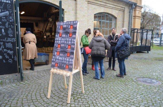 Det Jyske Kunstakademis jubilæumssymposium afholdes i det aarhusianske Ceres-bryggeris nedlagte fabriksbygninger. Foto: Mia-Louise Sellerup