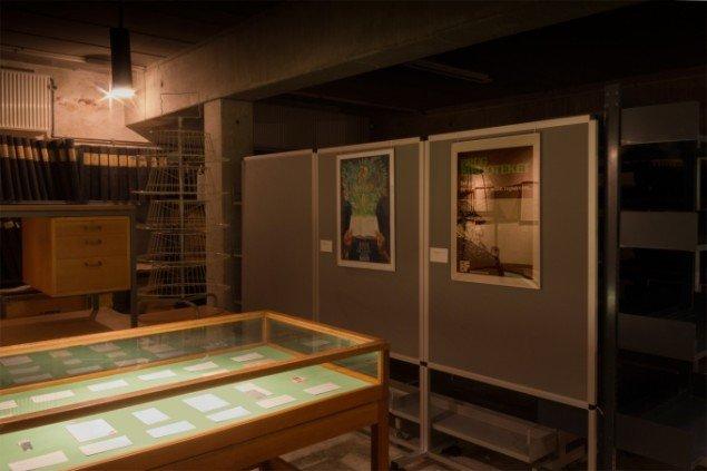 Fra udstillingen Laminat - en bibliotekshistorie af Lasse Krog Møller, Åby Bibliotek. Foto: Lasse Krog Møller
