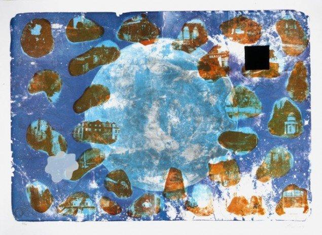 Værk af Bjørn Nørgaard. På Grafiske forbindelser, Vendsyssel Kunstmuseum til d. 1/2. Pressefoto