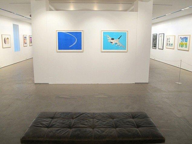 Udstillingsview med værker af Andreas Schulenburg. På Grafiske forbindelser, Vendsyssel Kunstmuseum til d. 1/2. Pressefoto