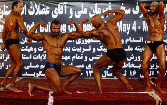 Fardin Waezi: Untitled (Bodybuildere), 2010. (Pressefoto)