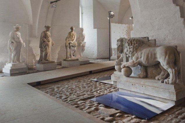 Installationsview med Mona Eckhoff Sørmoes Separasjon på udstillingen Skilsmissen, 2014 frem til 21. dec. Foto: Erling Lykke Jeppesen
