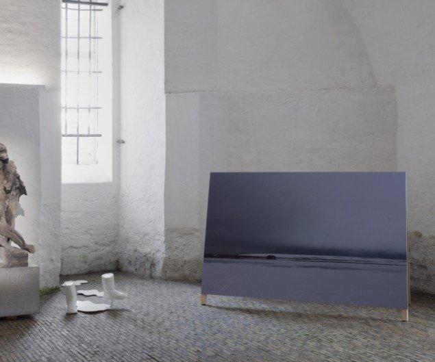 Installationsview af Siri Kollandsruds installation Huset Hjemme Fra på udstillingen Skilsmissen, 2014 frem til 21. dec. Foto: Erling Lykke Jeppesen