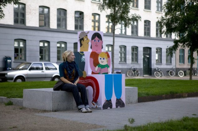 HuskMitNavns installationer på Sønderboulevard. Foto: Anders Sune Berg