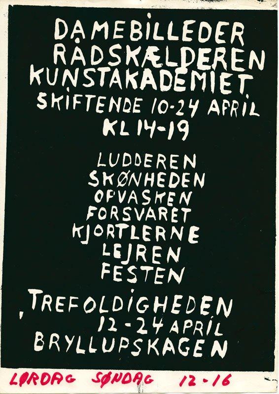 Plakat fra udstillingen Damebilleder i 1970 på Kunstakademiet i København. (Illustration fra bogen)