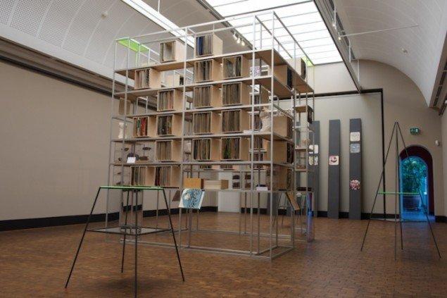 Installationsview af selve arkivet på udstillingen SKILDPADDE-ARKIVET, 2014 på Faaborg Museum til den 1. marts. Foto: Torben Glarbo