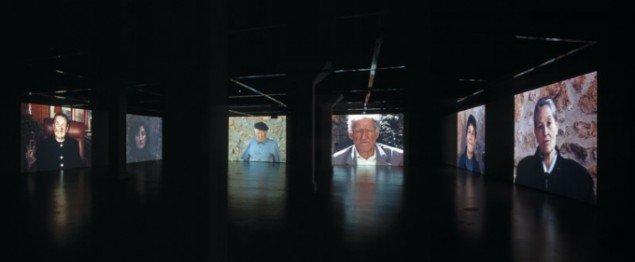 VILLAR. Interaktiv video installation til 6 projektorer, 2001. Installationsfoto, Tensta Konsthall, Stockholm 2001. (Foto: Peder Hildur)