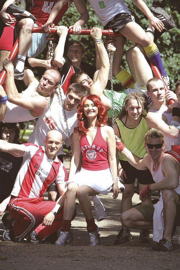 Still fra Katarzyna Kozyra: Cheerleader
