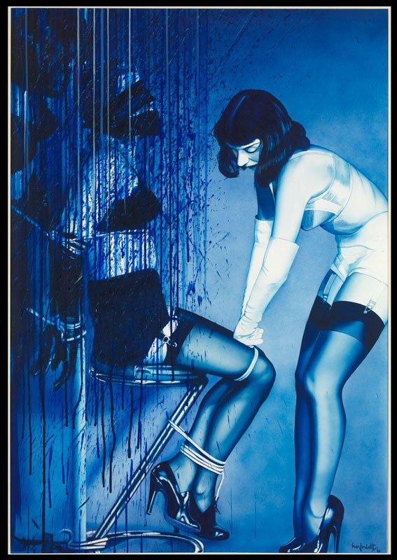 Hans Henrik Lerfeldt: It's A Blue World around Us, 1986. (Hobro Kunstsamling)