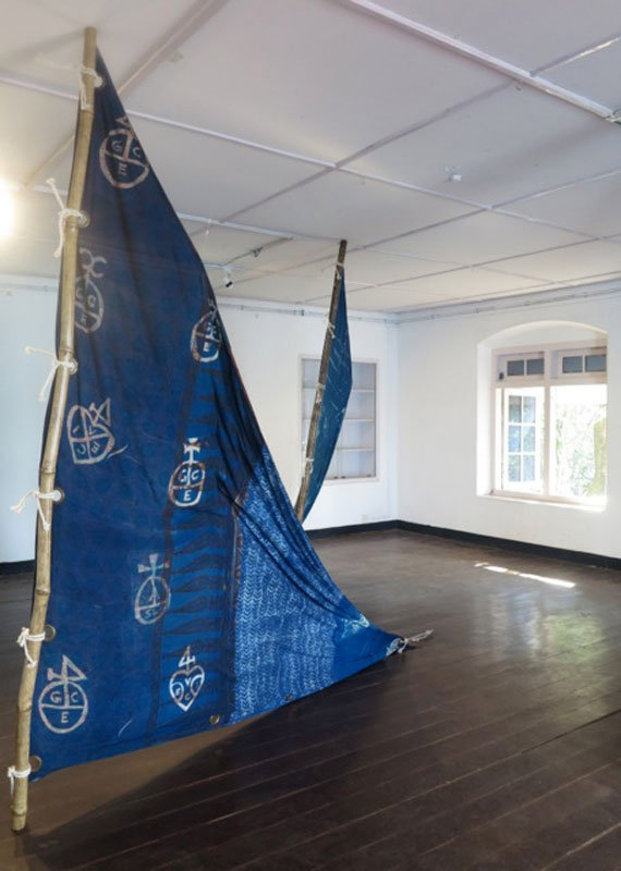 Lavanya Mani (1977, Hyderabad, India) Travellers tales – Blueprints, 2014. (Foto: Anne Vilsbøll)