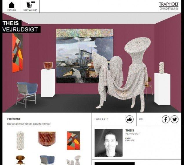 Vores udsendtes helt egen udstilling på Din udstilling på Trapholt. Screendump