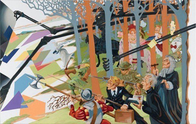 Martin Bigum: The Hunt of The Unicorn, 2007. Collection Rodolphe Janssen, Belgien. Pressefoto.
