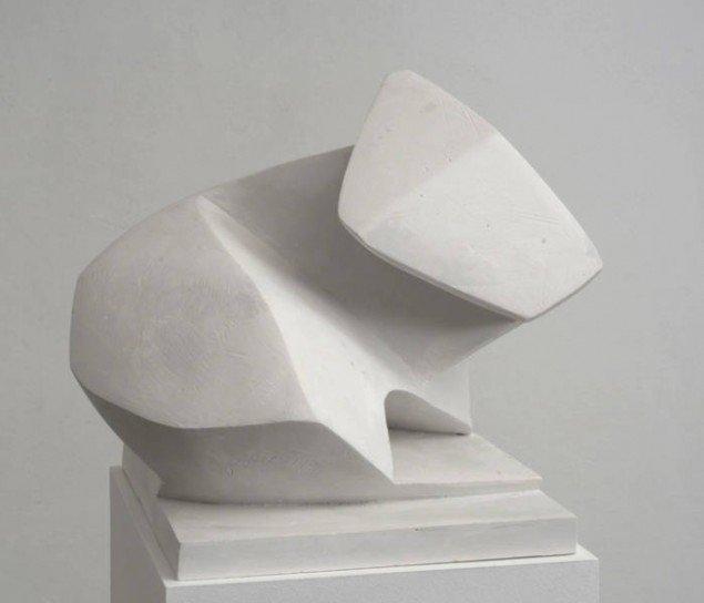 Florian Baudrexel: Cameron, Gips, 31x25x31 cm. Pressefoto