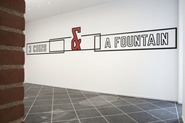 Installationsview fra PER KIRKEBY, LAWRENCE, 2014-15, Galleri Susanne Ottesen frem 14 marts. Foto: Stine Heger
