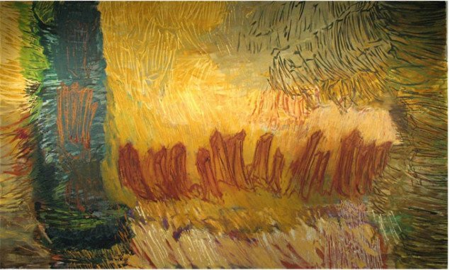 Maleri uden titel, 2008. Foto: Lars Svanholm