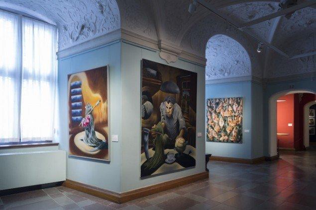 Installationsview fra udstillingen Martin Bigum - min egen kunst 1989-2014 på Det Nationalhistoriske Museum til 6/4 2015. Foto: Det Nationalhistoriske Museum