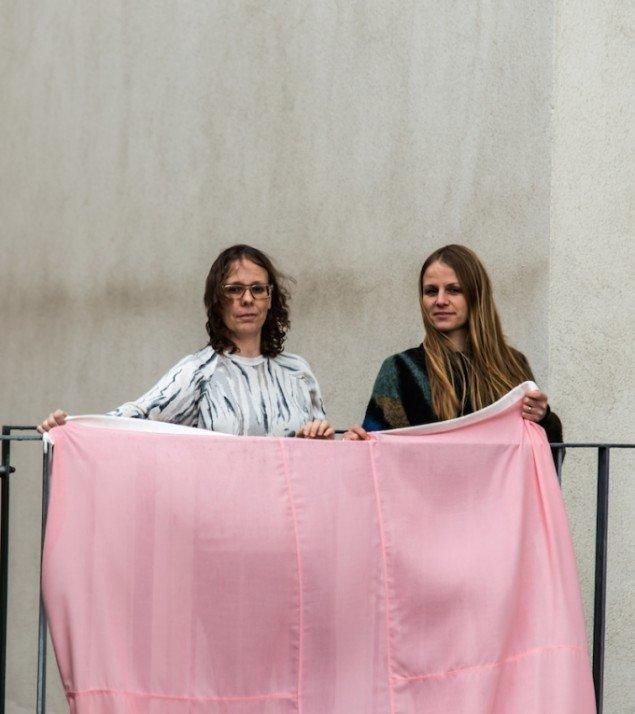 Sofie Hesselholdt (tv) og Vibeke Mejlvang. Foto: Niels Fabæk