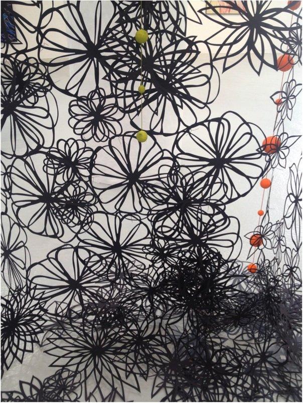 Nightfall, 2007. Detalje fra udstillingen Abstrakte Kvinder, Carl-Henning Pedersen & Else Alfelts Museum til 30/8 2015. Foto: Margrethe Hedemann Mølgaard