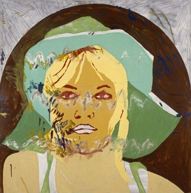 Per Kirkeby Brigitte Bardot 1967 Akryl på masonit 122 x 122 Privat ejer. (Pressefoto, SMK)