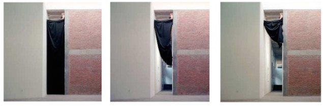 Black Curtain, 2009. Live performance i forbindelse med udstillingen 5.8 M, Li Space, Beijing, 2009. Foto: Karen Patterson & Nanna Lysholt Hansen