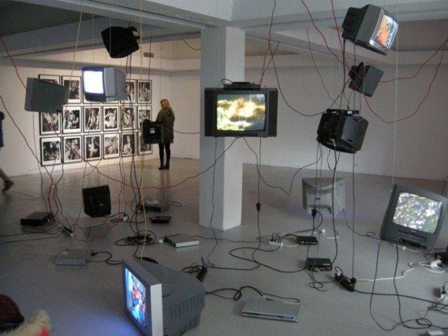 Installationsview, Carolee Schneemann i Kling&Bang galleri. (Foto: Matthias Hvass Borello)