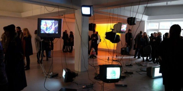 Installationsview, Carolee Schneemann i Kling&Bang galleri. (Foto: Sequences)