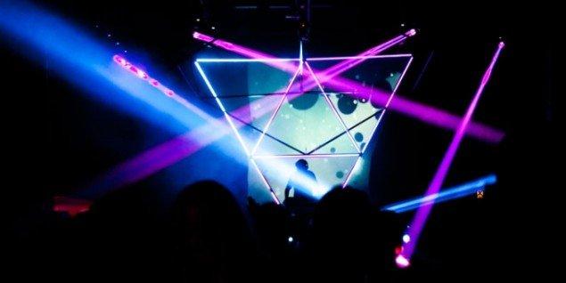 Obscuras grafiske totalinstallation på sidste års festival. (Pressefoto)