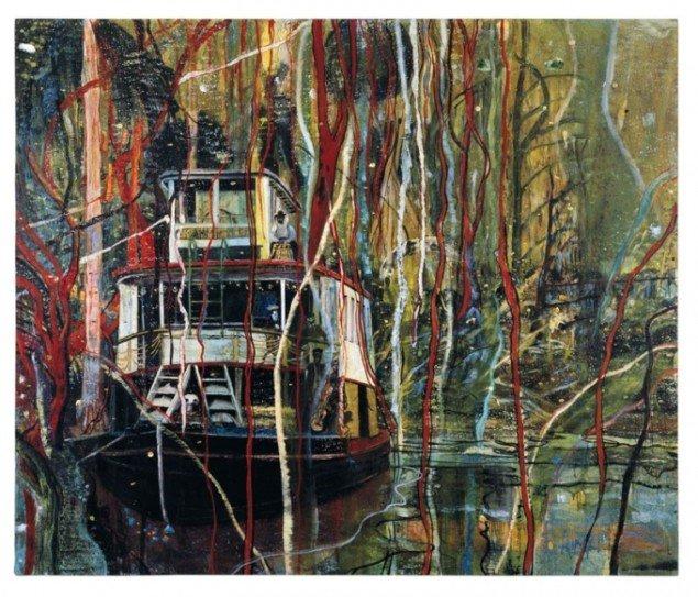 Peter Doig: Okahumkee (Some other people's Blues), 1990. (Kunsthalle zu Kiel).