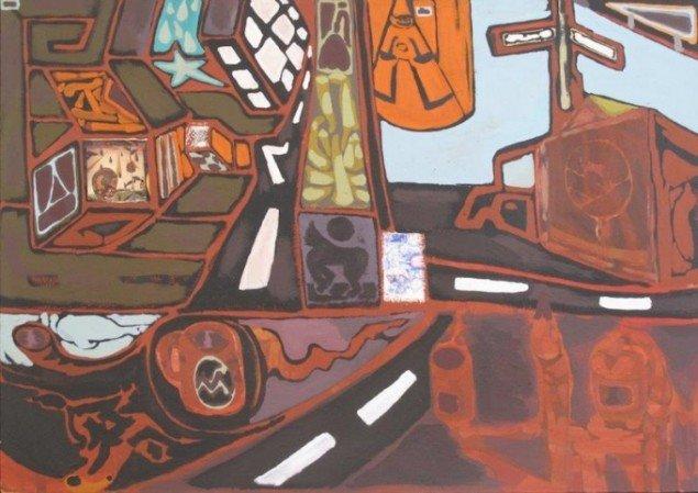Martin Fraenkel: Rusty Bus Stop, 2015