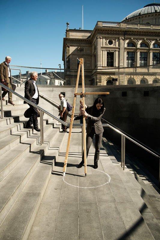 Molly Haslund: Cirkler, performance under Copenhagen Art Week, 2014. (Foto: Martin Kurt Haglund)