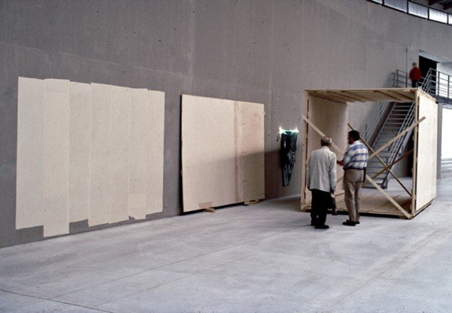 Shuttering with work on Wall, 1996. Foto: Erik Wøldike