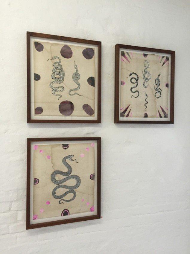 Installationsview fra udstillingen Andra kärleken, 2015 på Charlotte Fogh Gallery. Foto: Charlotte Fogh Gallery