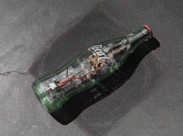 Dan Colen: Colaflasken, der skulle have roteret. Foto: Heart
