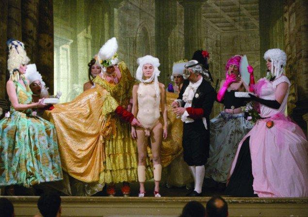 Fra performancen The Castrate. Pressefoto